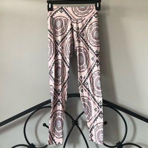 Liquido Pink Patterned Leggings